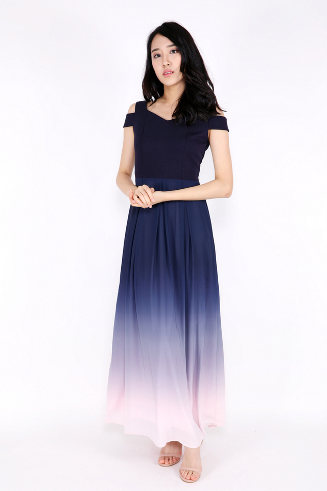 Olivia Ombre Maxi Dress (Blue/Pink)