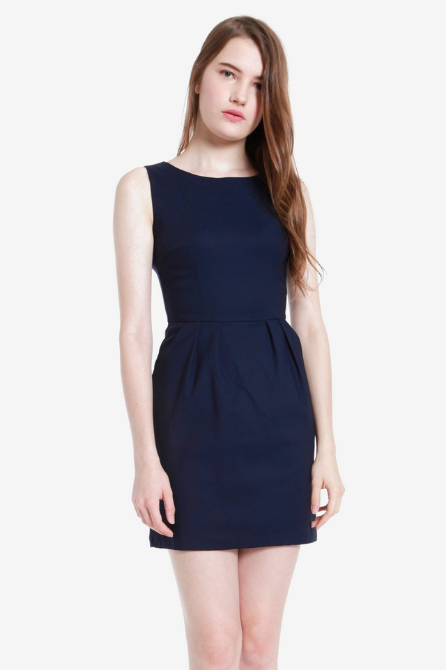 Trish Tulip Dress (Midnight Navy)
