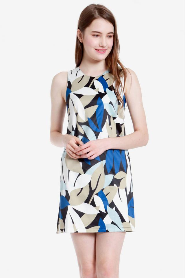 Emmons Floral Shift Dress (Blue)