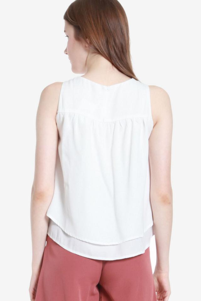 Ema Double Layer Top (White)