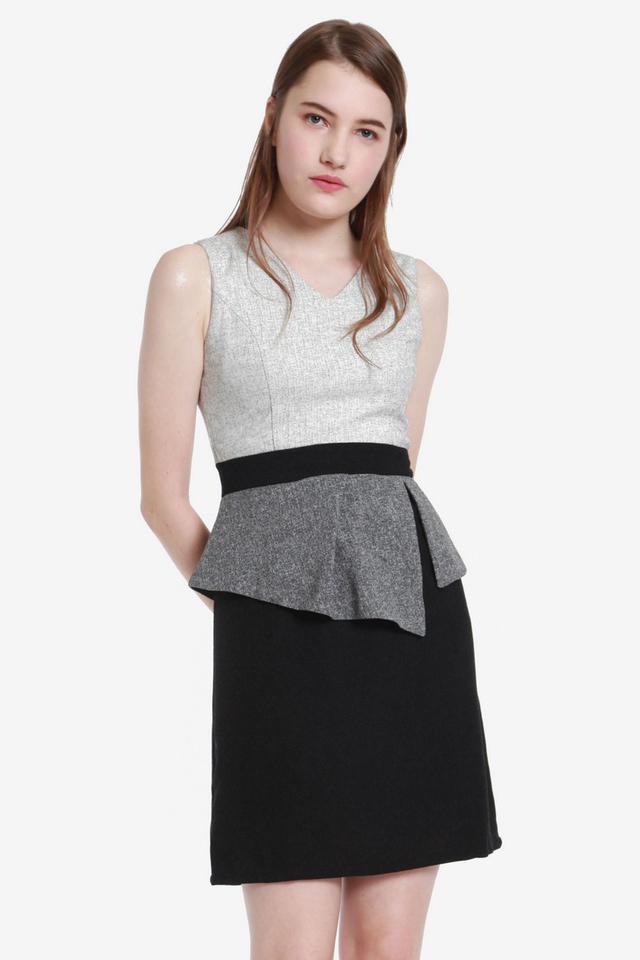 Martz Tweed Peplum Dress