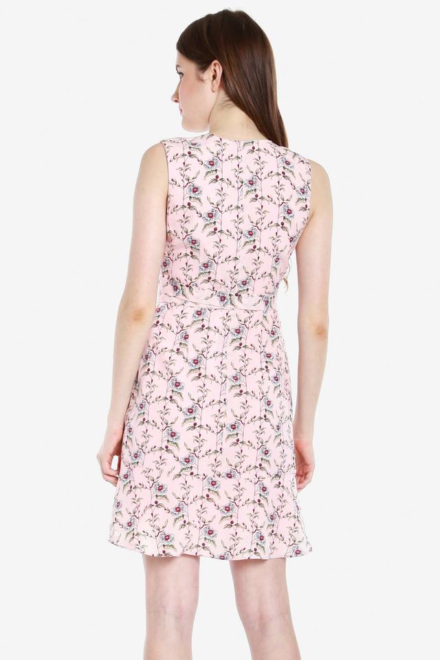 Kimble Floral Wrap Dress (Pink)