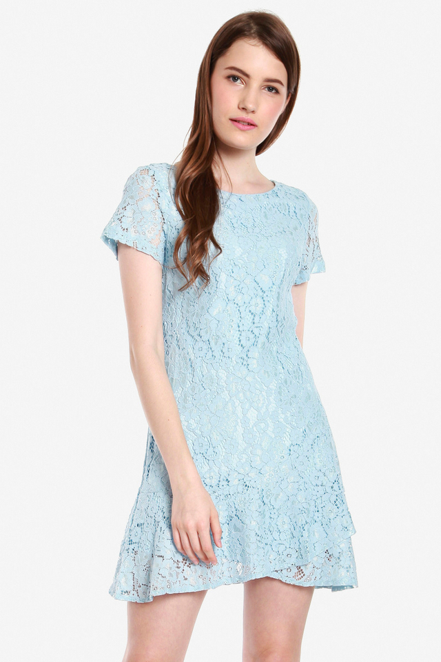Kiefer Short Sleeve Lace Dress