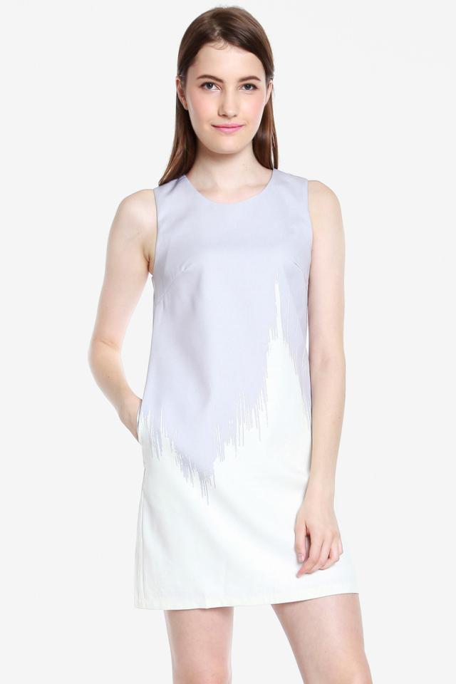 Bethel Ombre Shift Dress (Grey)