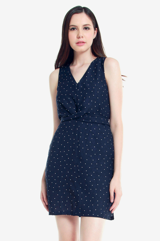 Jerilyn Polka Dot Criss Cross Dress
