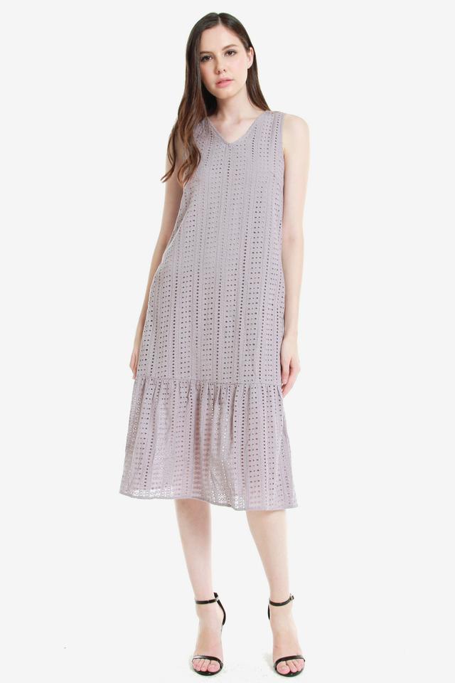Terresa Eyelet Midi Dress