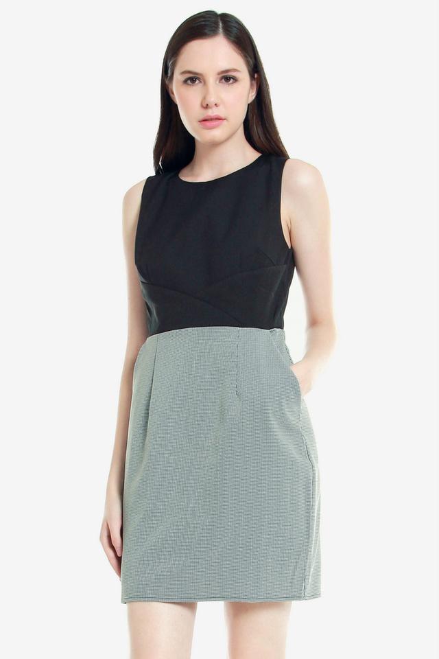 Erlinda Pocket Work Dress (Black)
