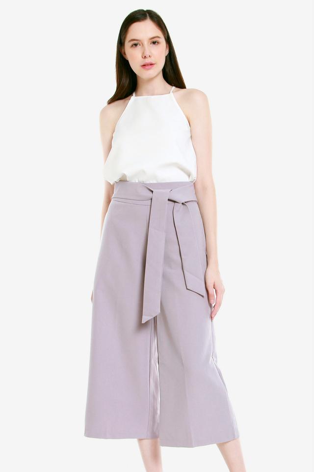 Byars Sash Culottes (Lilac)