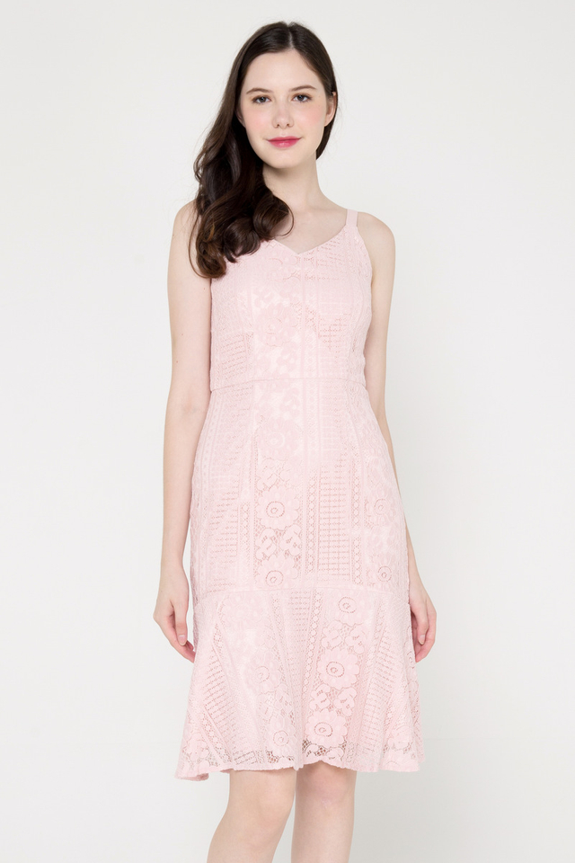 Breanna Lace Dress (Pink)