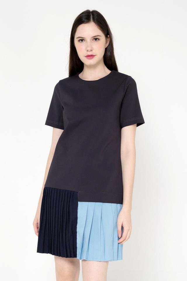 Varon Colourblock Pleat Dress