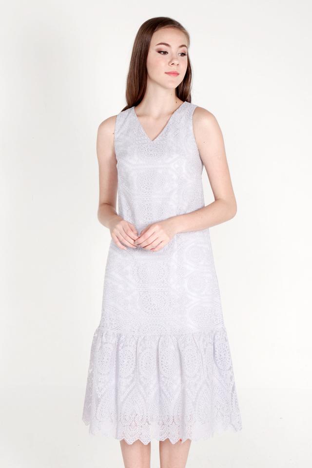 Ozelle Organza Midi Dress (Periwinkle Lilac)