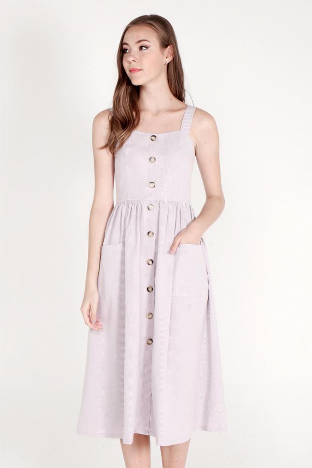Trejo Spaghetti Midi Dress (Lilac)