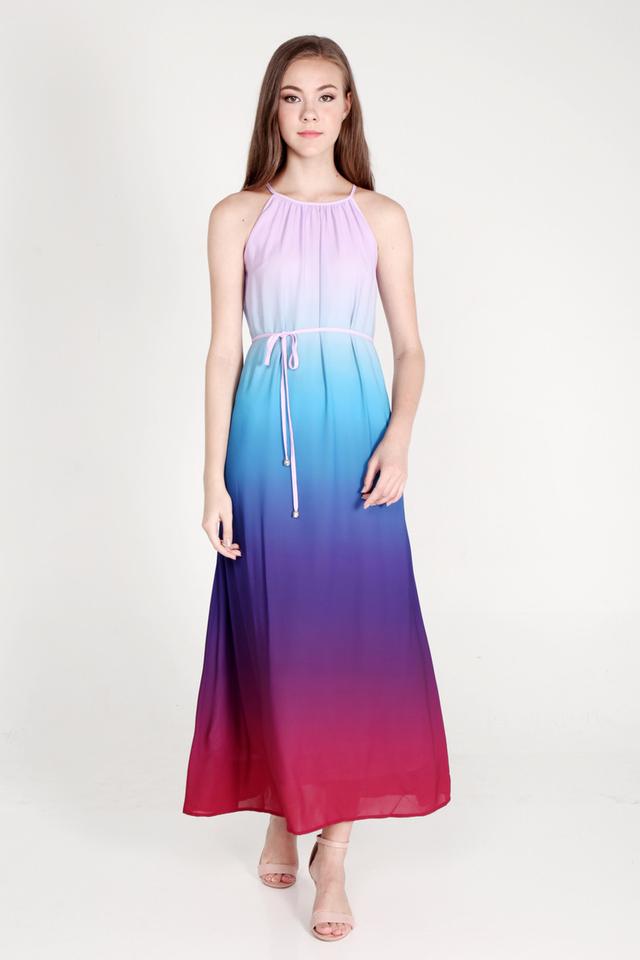 Sharell Ombre Maxi Dress (Blue/Red)