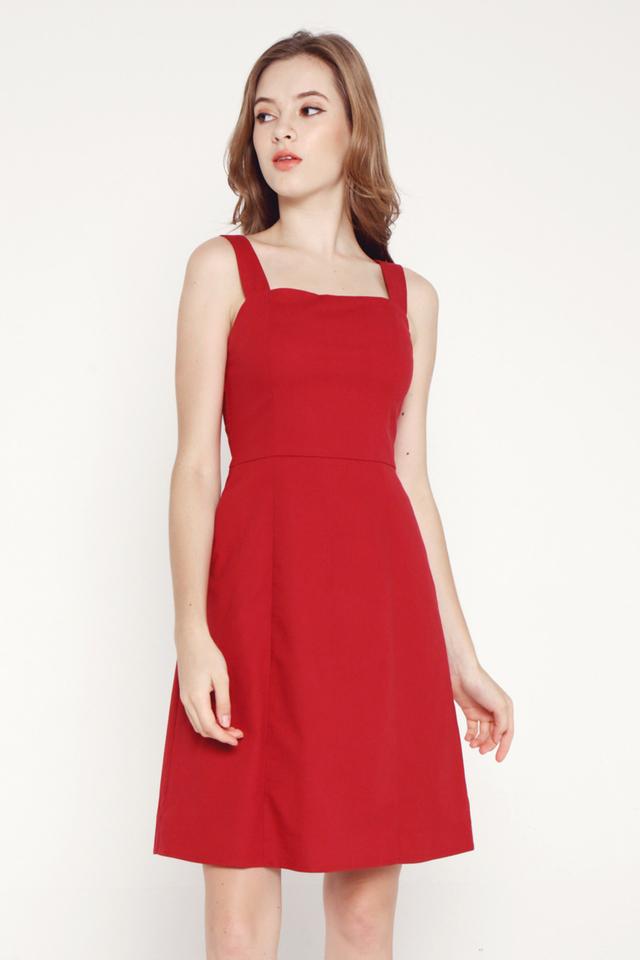 Genesis Pocket Dress (Red)
