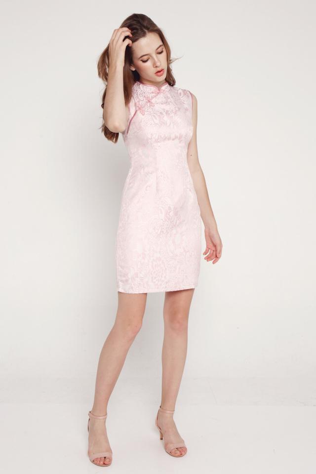 Janetta Cheongsam Dress (Pink)