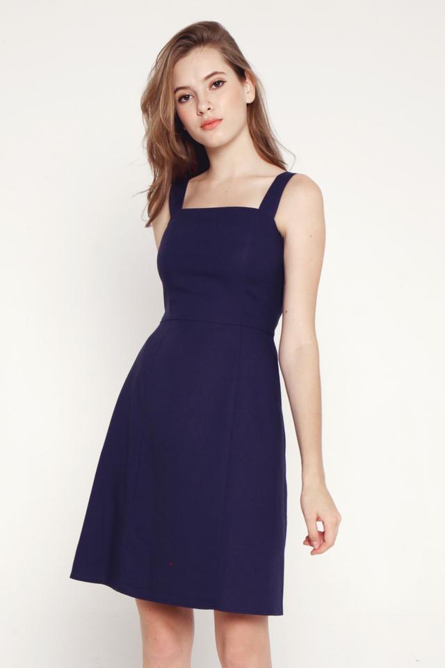 Genesis Pocket Dress (Navy Blue)