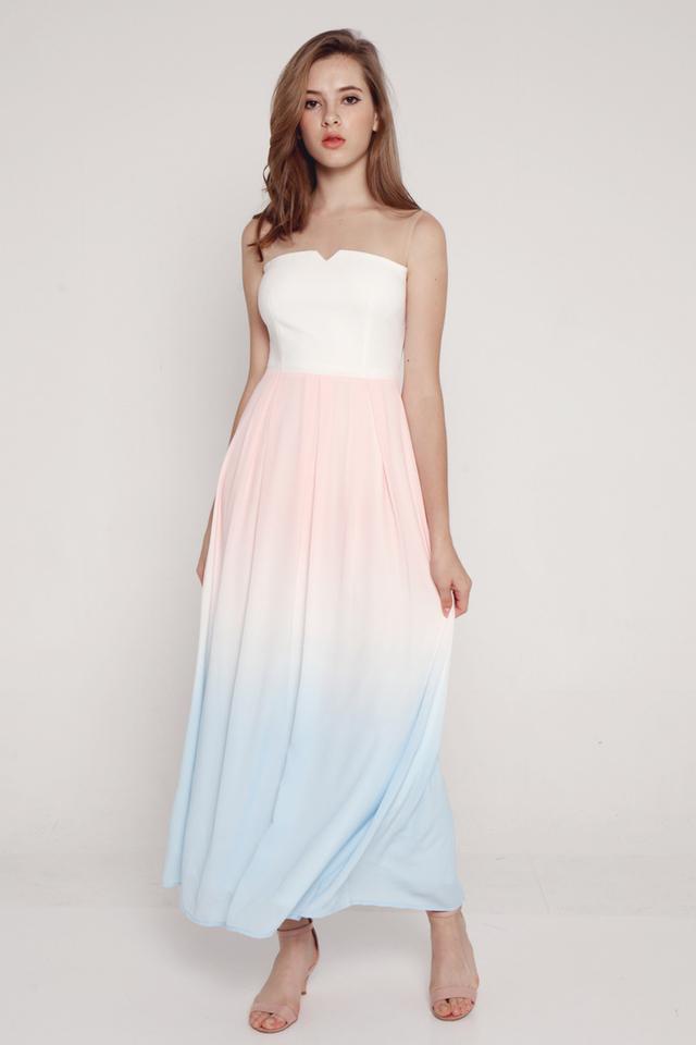 PO: Janelle Mesh Maxi Dress (White)