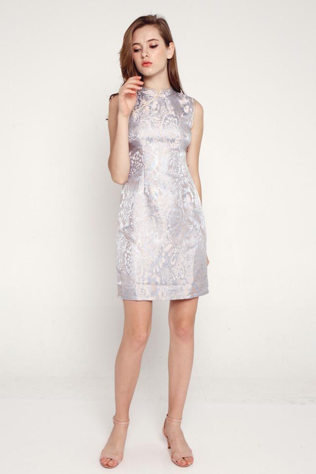 Janetta Cheongsam Dress (Blue)