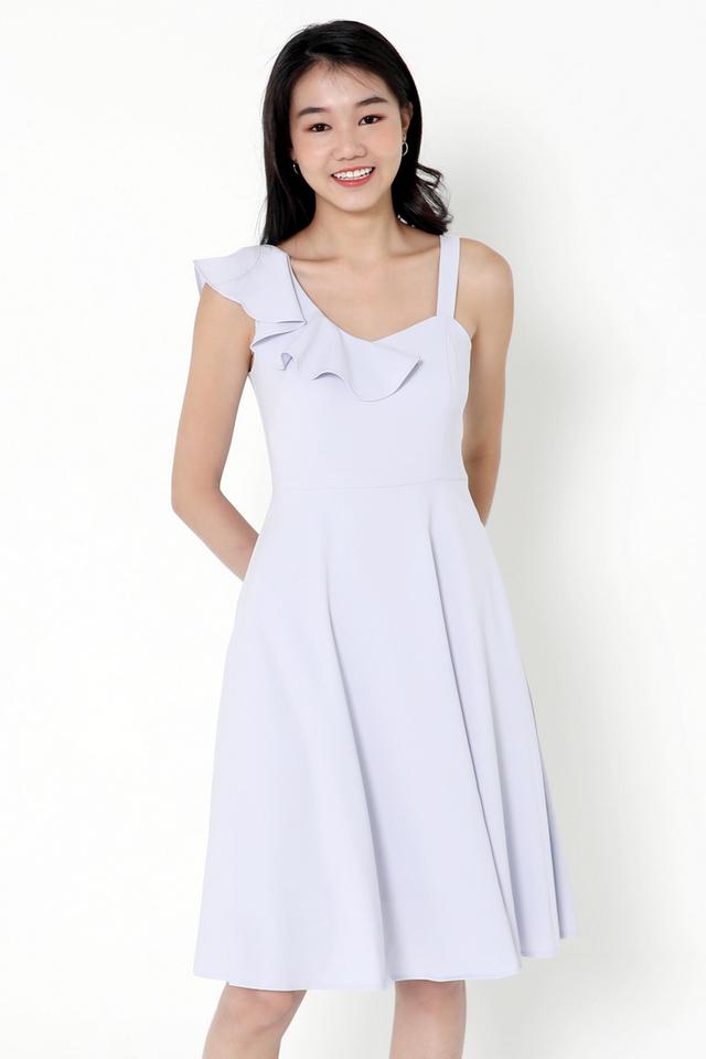Cohen Frills Midi Dress (Blue)