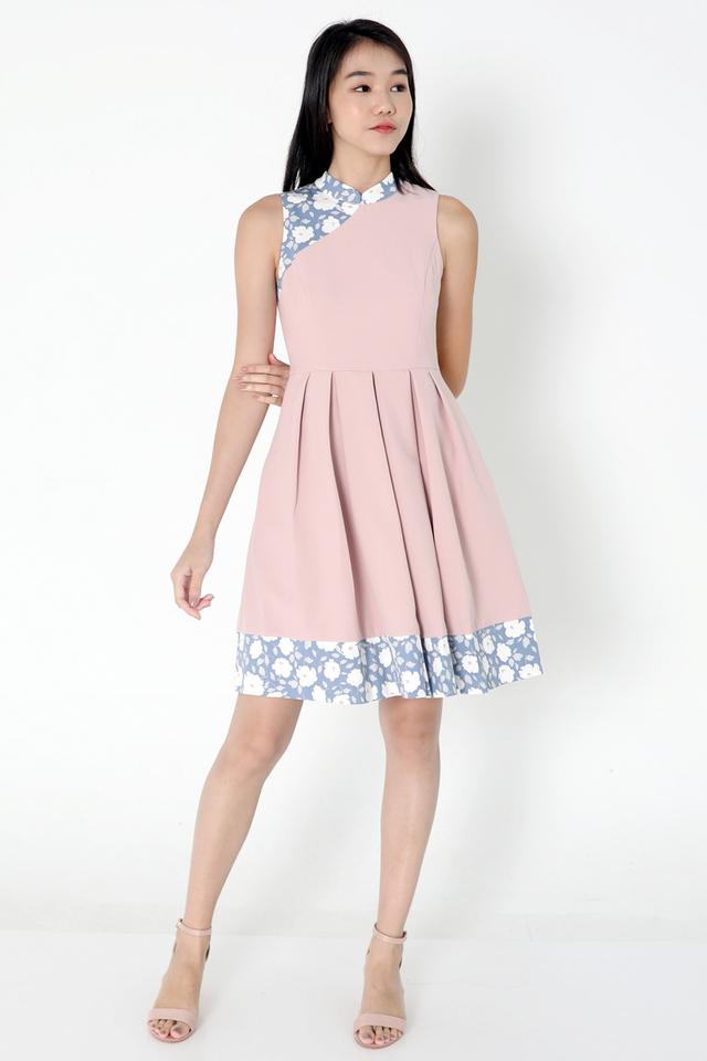 Jillian Cheongsam Dress (Pink)