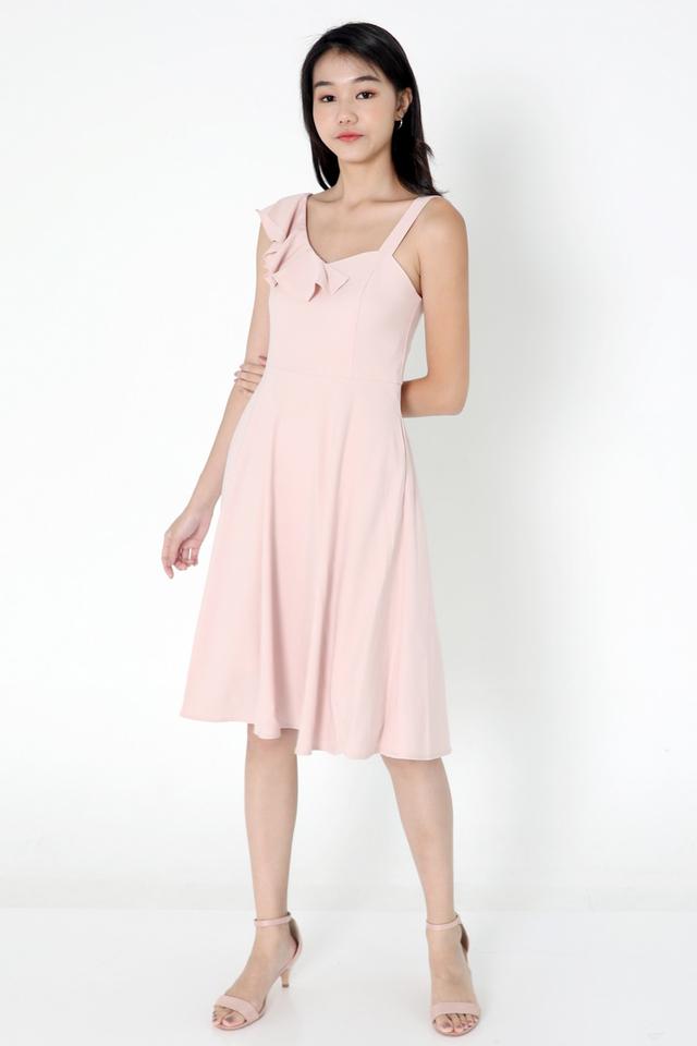 Cohen Frills Midi Dress (Pink)