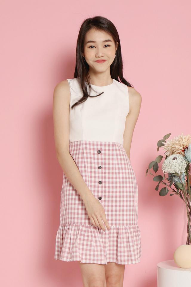 Deloris Pocket Dress (Pink)