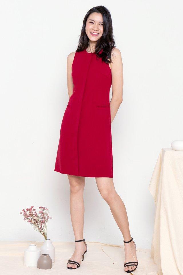 Aliston Work Dress (Magenta)