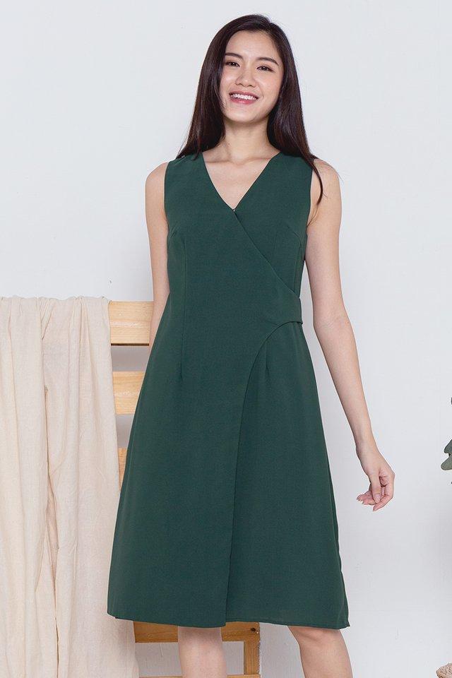 Keagan Work Dress (Forest Green)