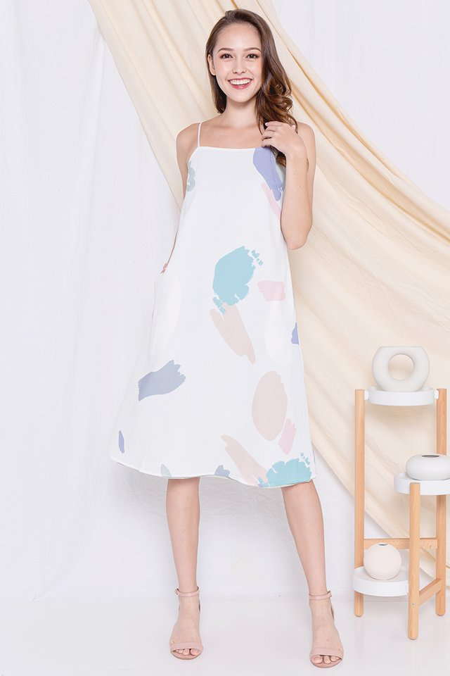 Raven Spag Reversible Dress (White)