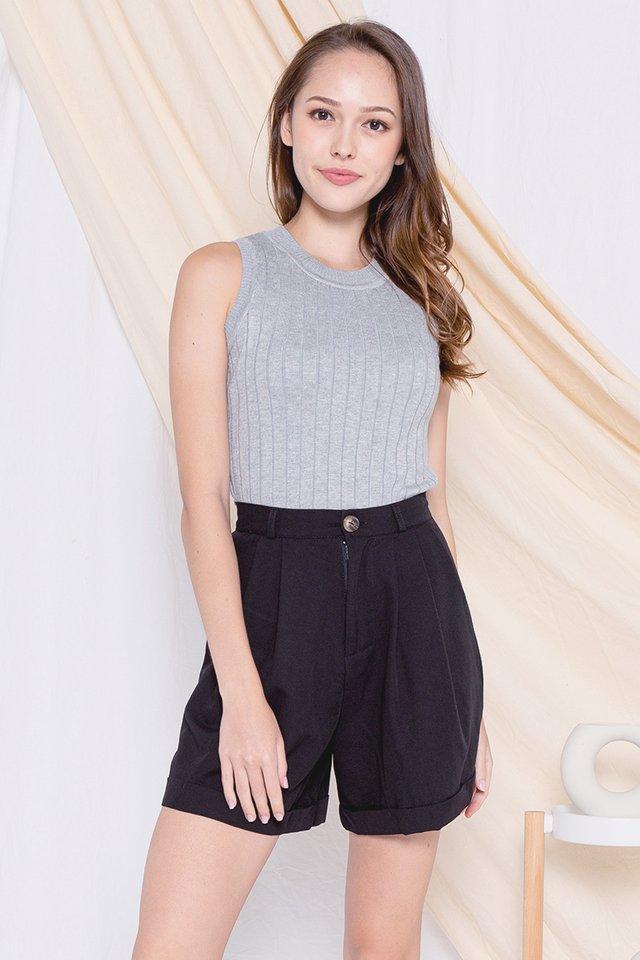 *Restocked* Basic Knit Top (Grey)