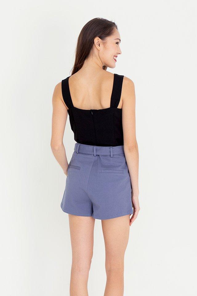 Denver Belted Denim Shorts (Blue)