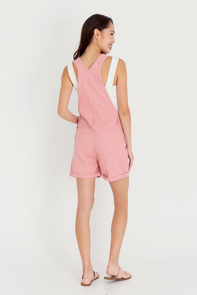 Daisee Dungaree Denim Playsuit (Pink)