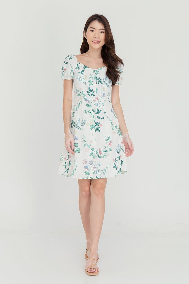 Lexie Floral Two-way Dress (White)