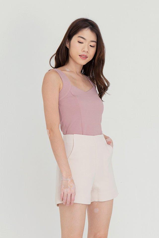 Rayne V Neck Basic Top (Pink)