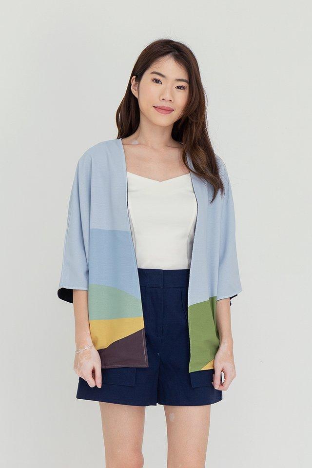 Trinity Reversible Kimono Jacket (Blue Prints)