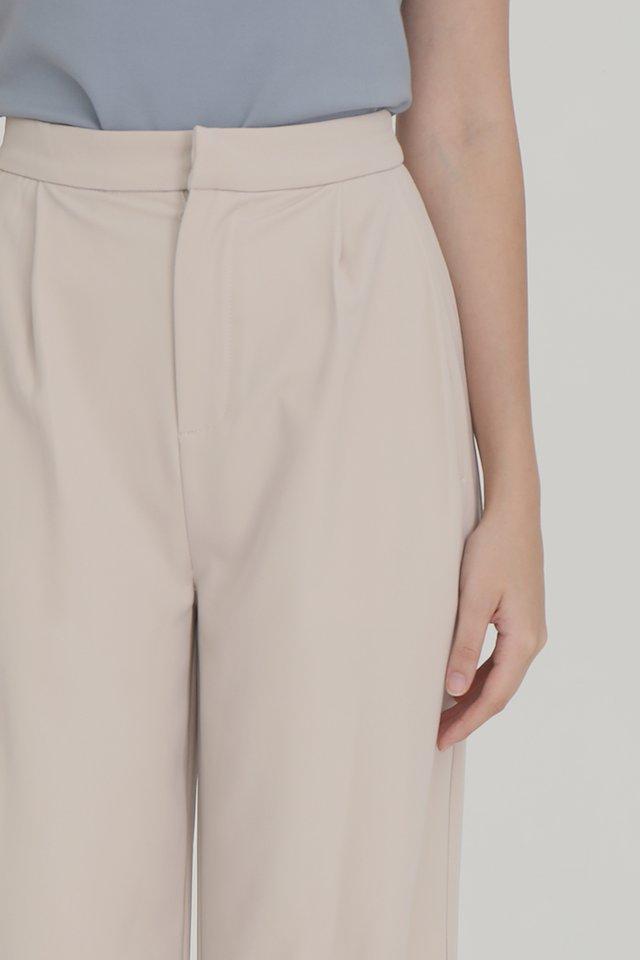 Laurent Straight Leg Pants (Cream)