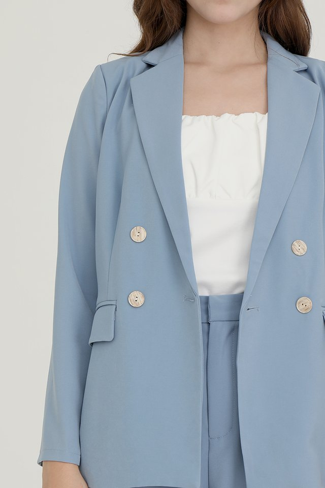 Laurent Relaxed Fit Blazer (Blue)