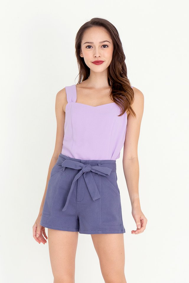 Troy Thick Straps Top (Lilac)