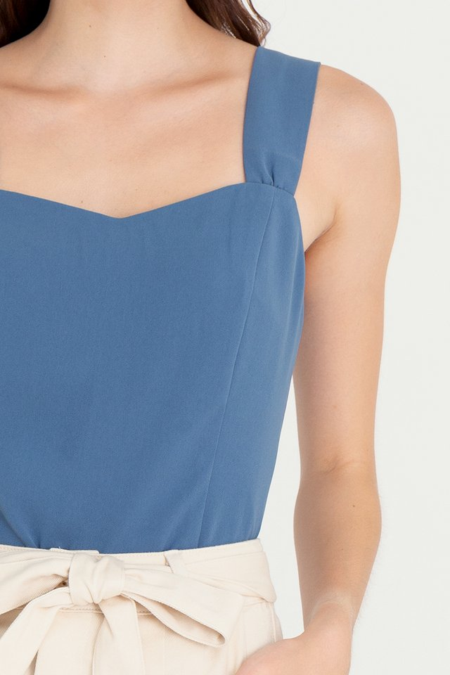 Troy Thick Straps Top (Blue)