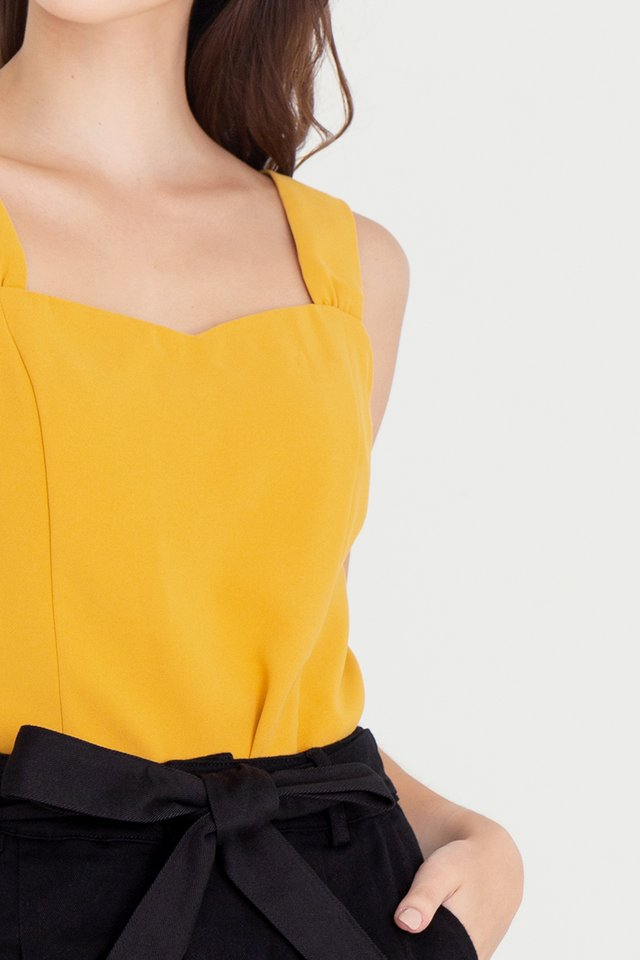 Troy Thick Straps Top (Mustard Yellow)