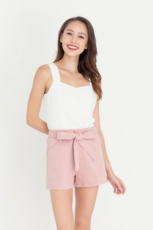 Troy Thick Straps Top (White)
