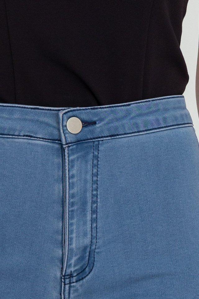 Ella Elastic Jeans (Blue)