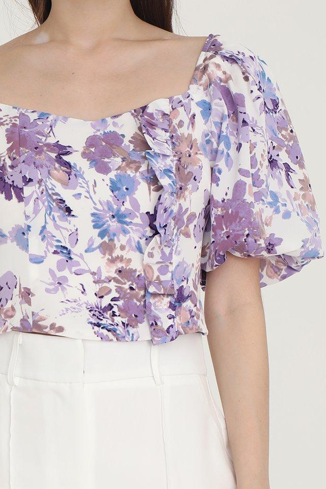 Karissa Floral Puffy Sleeves Top