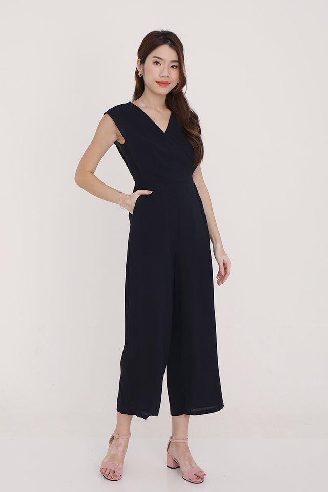 Savanna Kimono Jumpsuit (Midnight Blue)