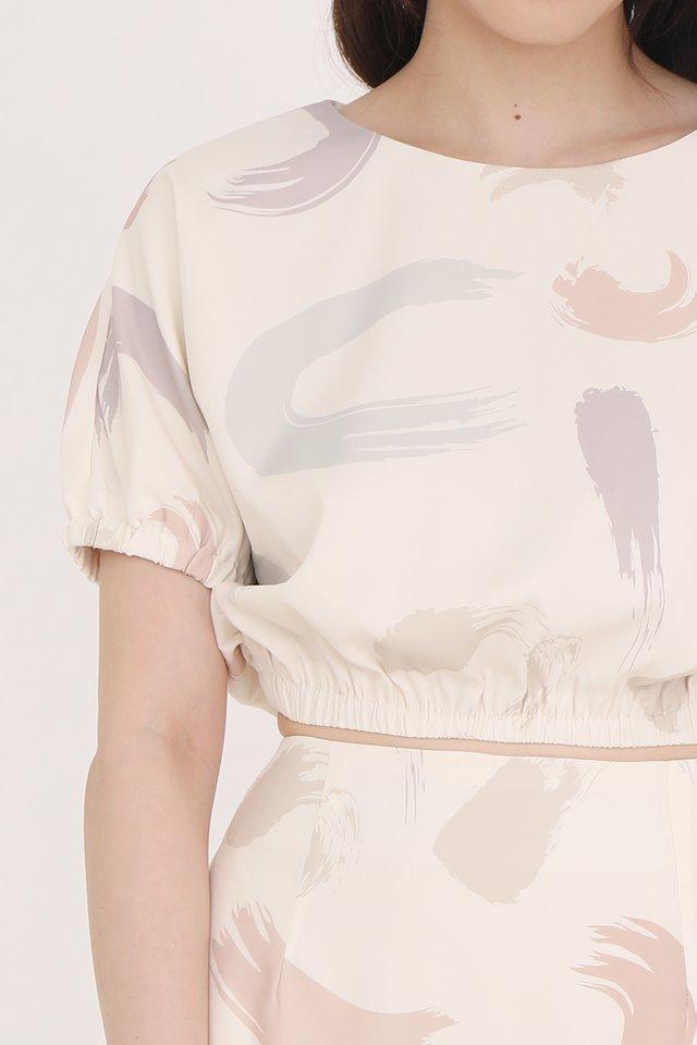 Jillian Abstract Top (Cream)