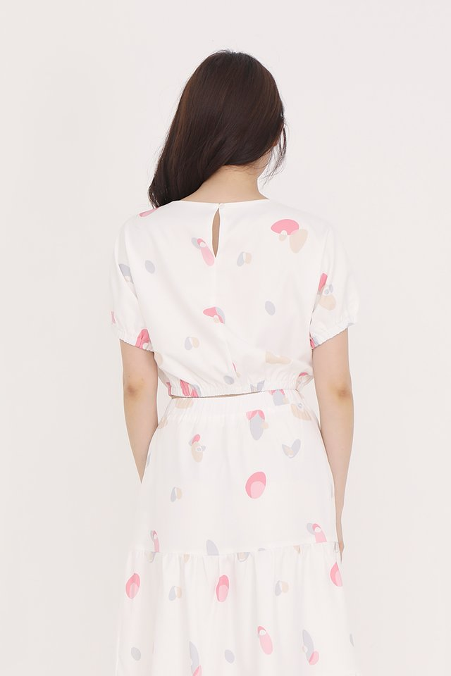 Lowri Abstract Top (White)