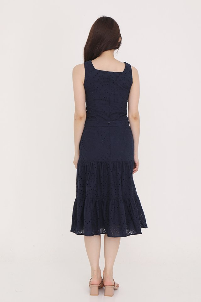 Caitlyn Eyelet Skirt (Navy Blue)