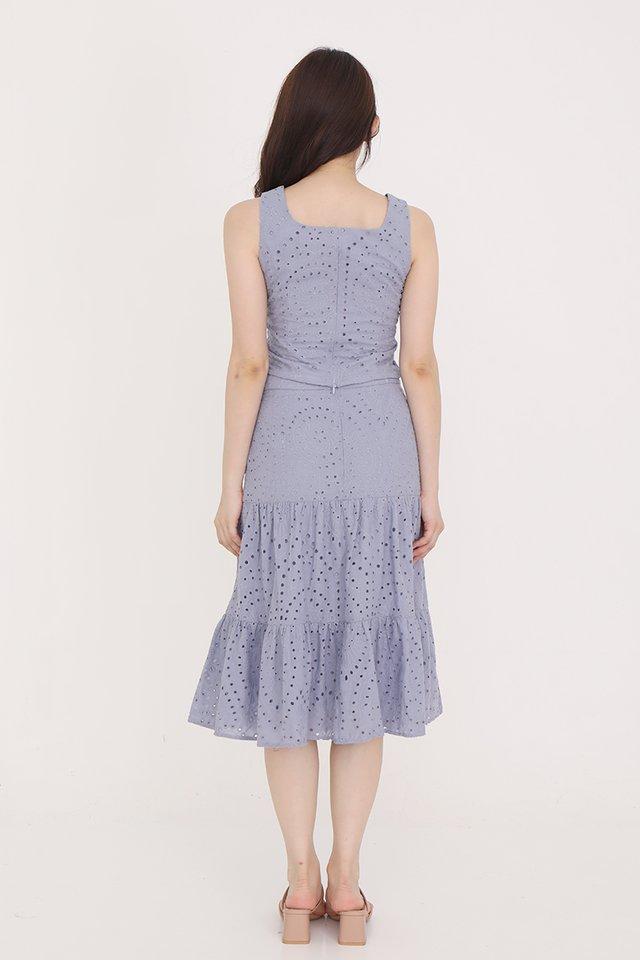Caitlyn Eyelet Skirt (Periwinkle)