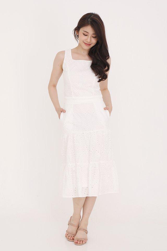 Caitlyn Eyelet Skirt (White)