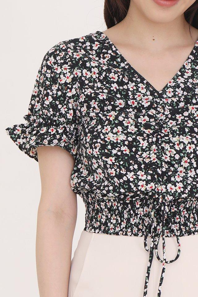 Layla Floral Top (Black)